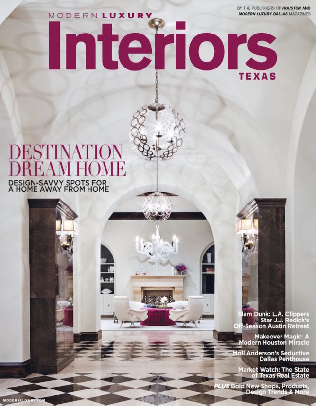 Wright Interiors on cover of Modern Luxury Interiors Texas