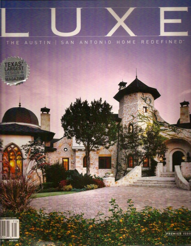 Luxe Magazine Cover - Wright Interiors' Gothic Manor